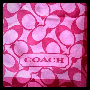 Coach Pink square silk scarf